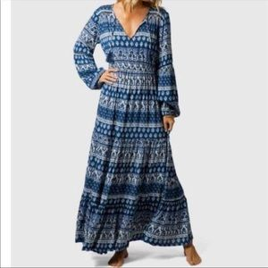 Rip Curl North Coast Maxi Dress Blue
